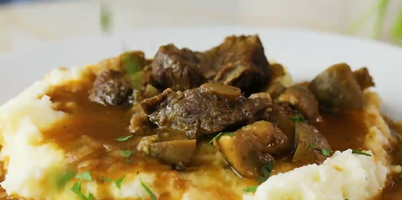 instant pot beef and mushroom stew