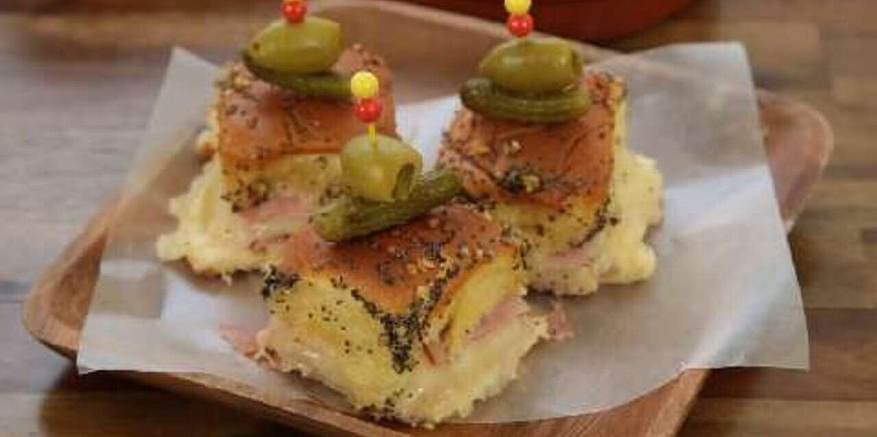 baked ham and cheese party sandwiches recipe
