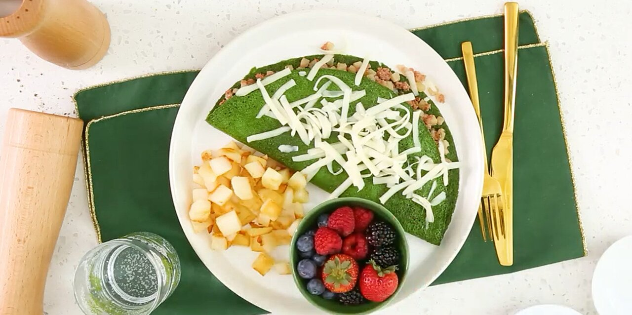 green eggs and hash omelet recipe