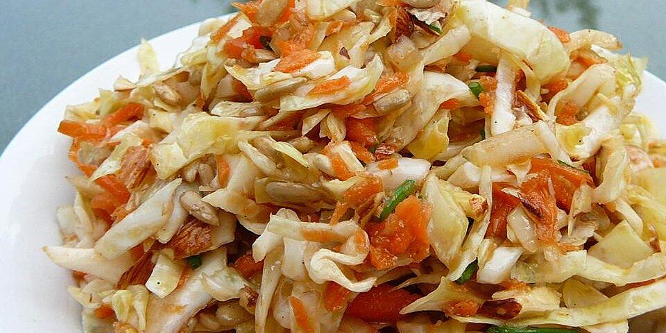 mayo free cabbage salad recipe