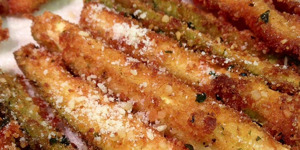 parmesan fried zucchini recipe