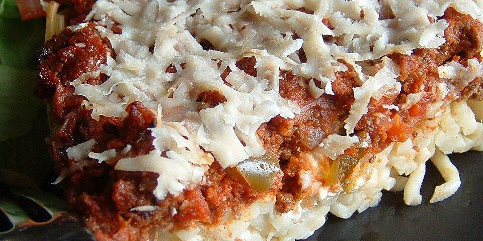 spaghetti pie ii recipe