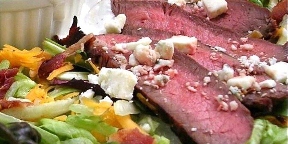 bacon blue cheese flat iron salad recipe