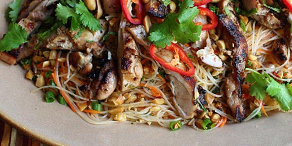 spicy rice noodle salad recipe