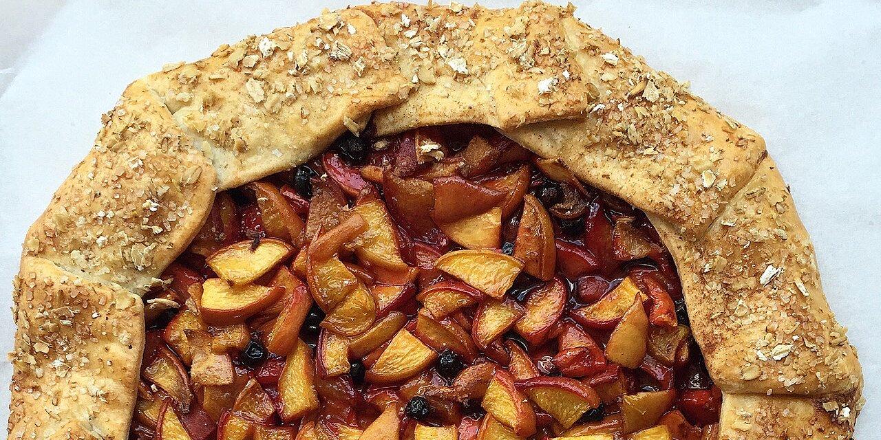 fresh peach galette recipe
