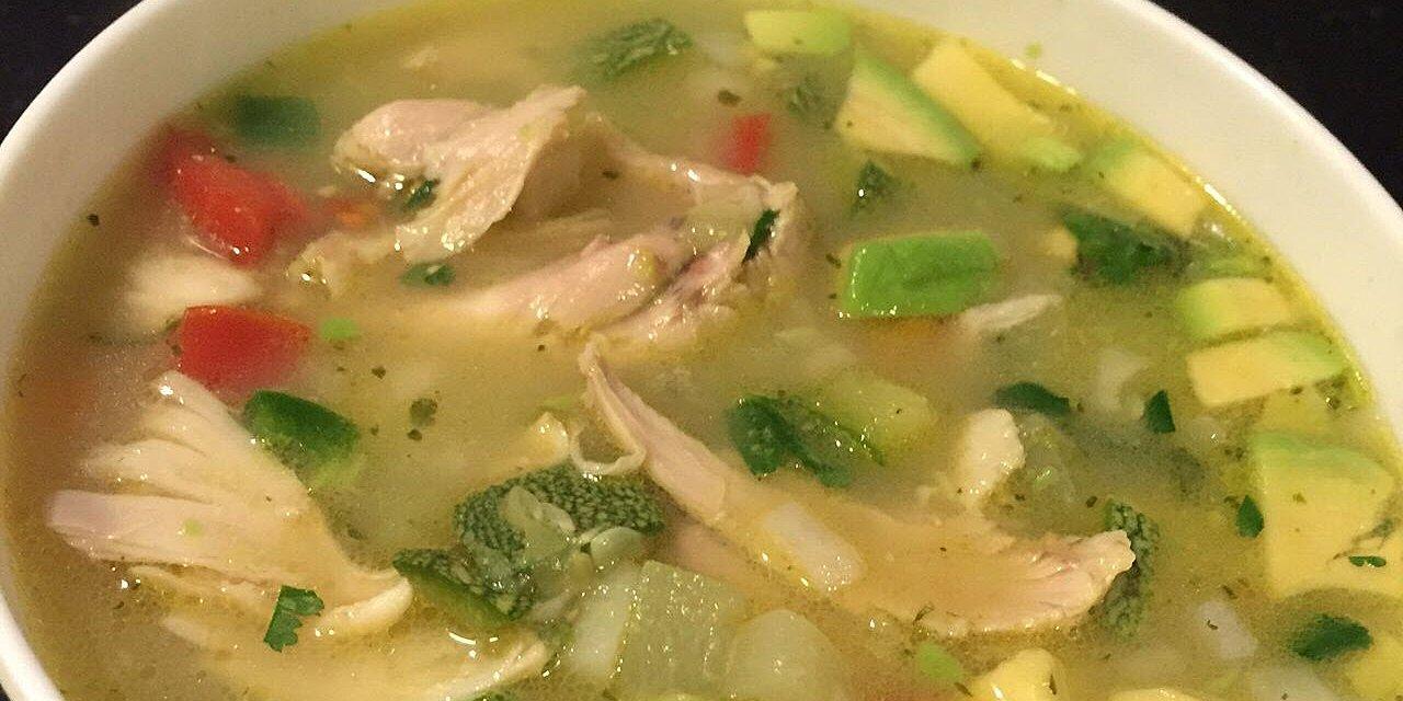 mexican chicken and rice soup sopa de pollo y arroz recipe