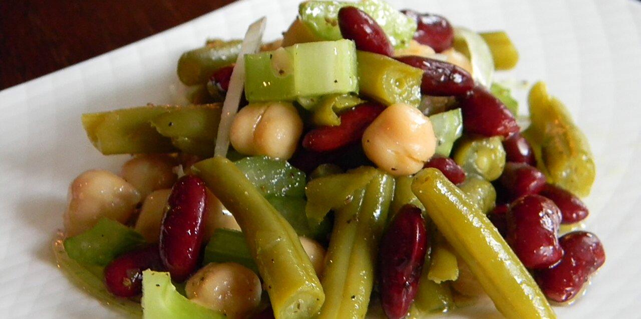 three bean salad with celery recipe