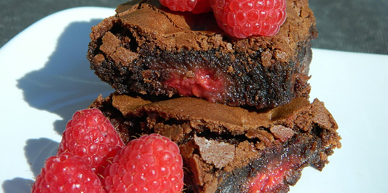 righteous raspberry brownies recipe