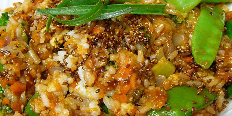 fried rice with ginger hoisin and sesame recipe