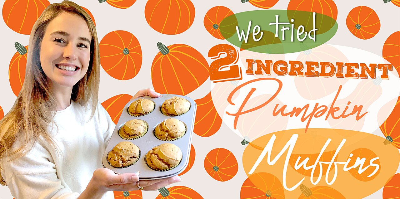 2-Ingredient Pumpkin Muffins Recipe