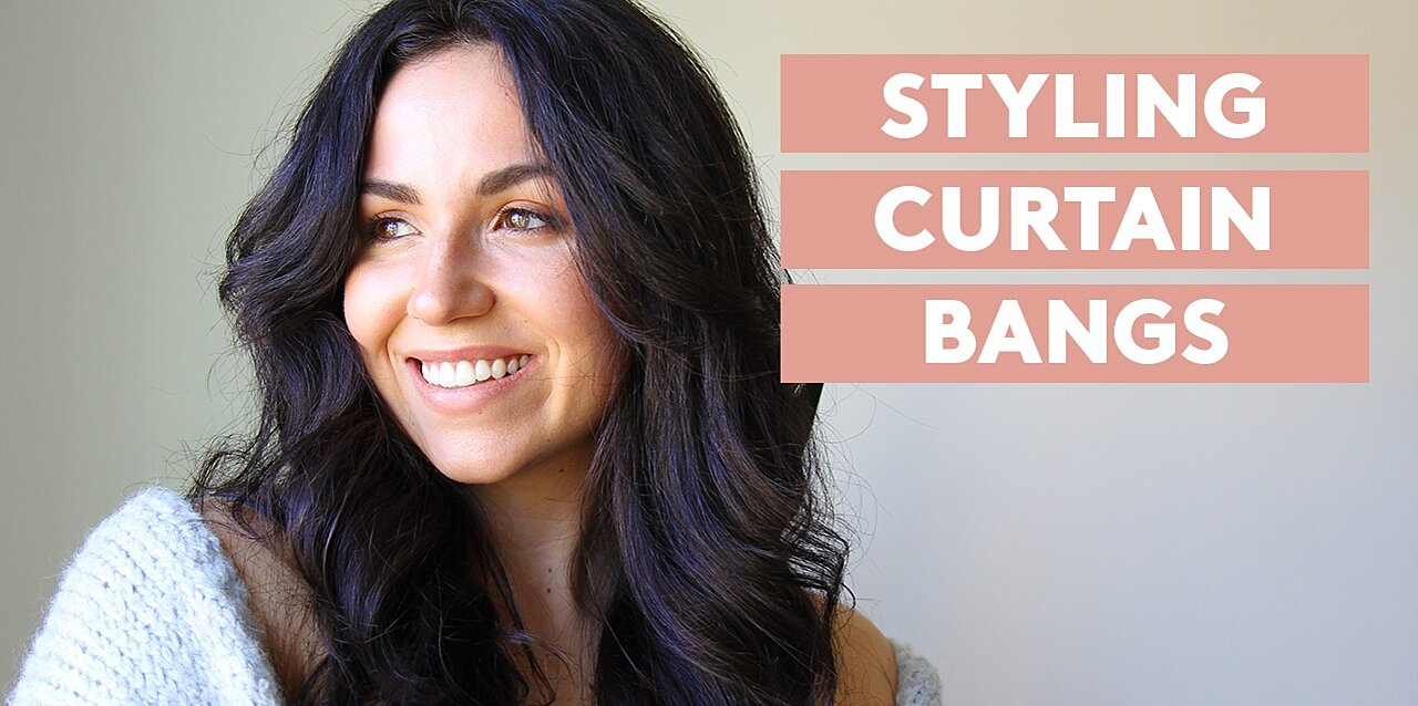 2 Ways to Style Curtain Bangs—With and Without Heat
