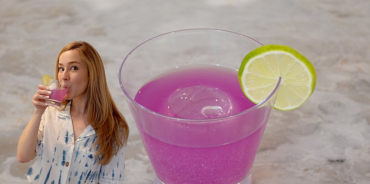 how to make a sparkly butterfly pea flower margarita