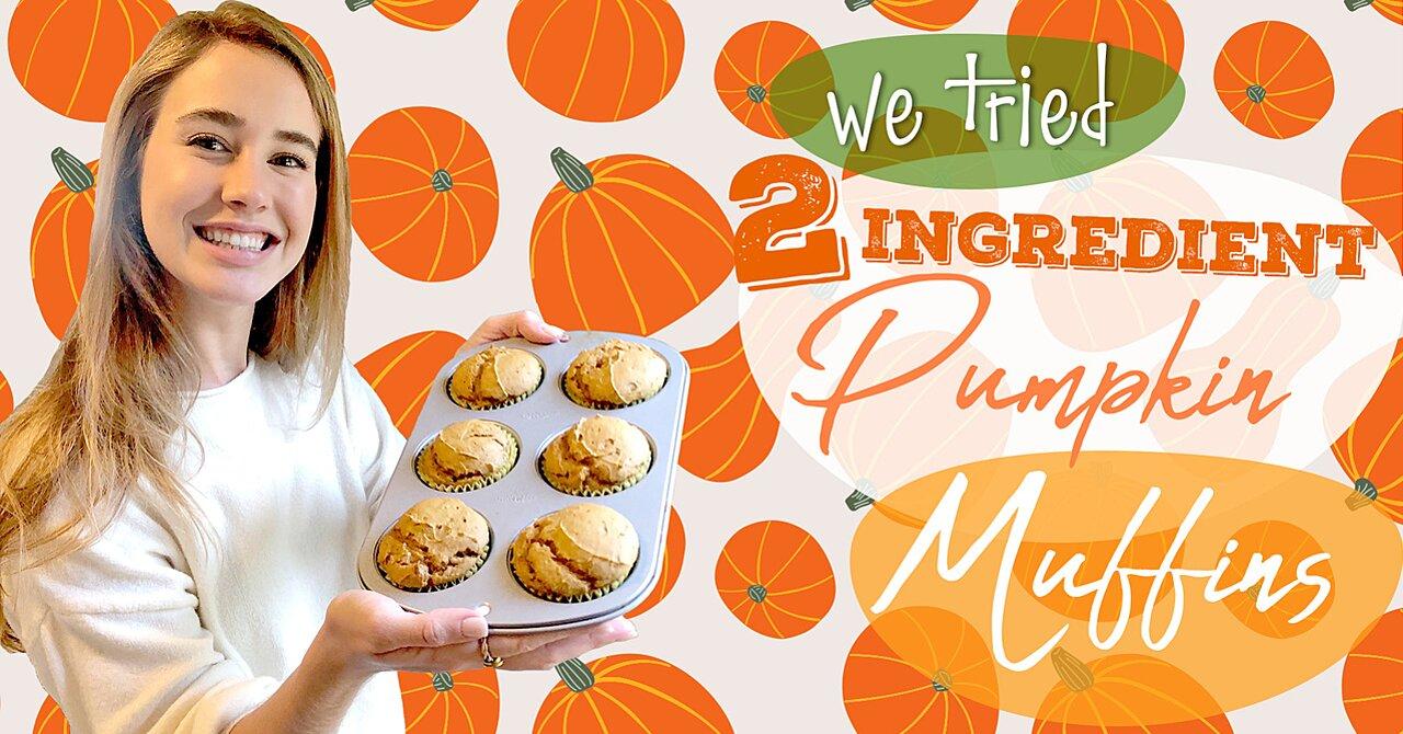 2-Ingredient Pumpkin Muffins Recipe