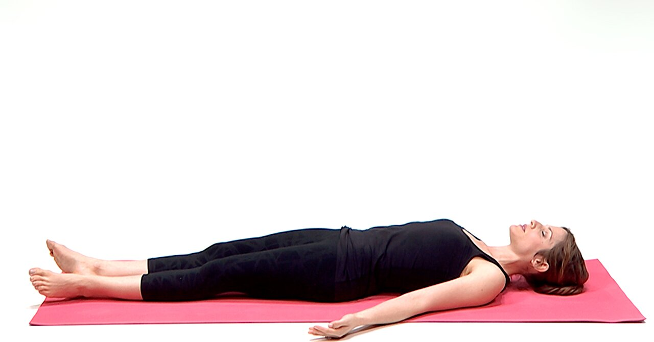 Savasana With Knees Bent