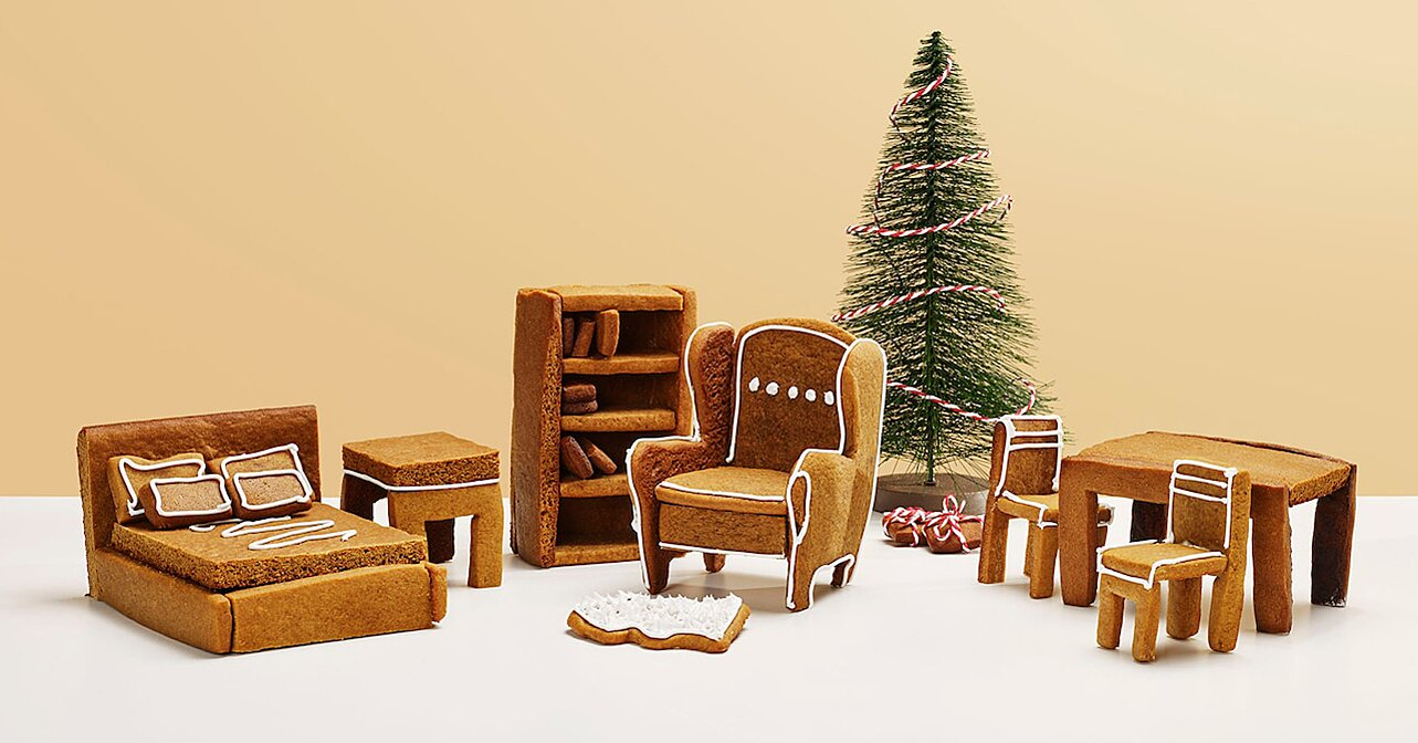 Ikea Made Gingerbread Patterns of Its Famous Furniture