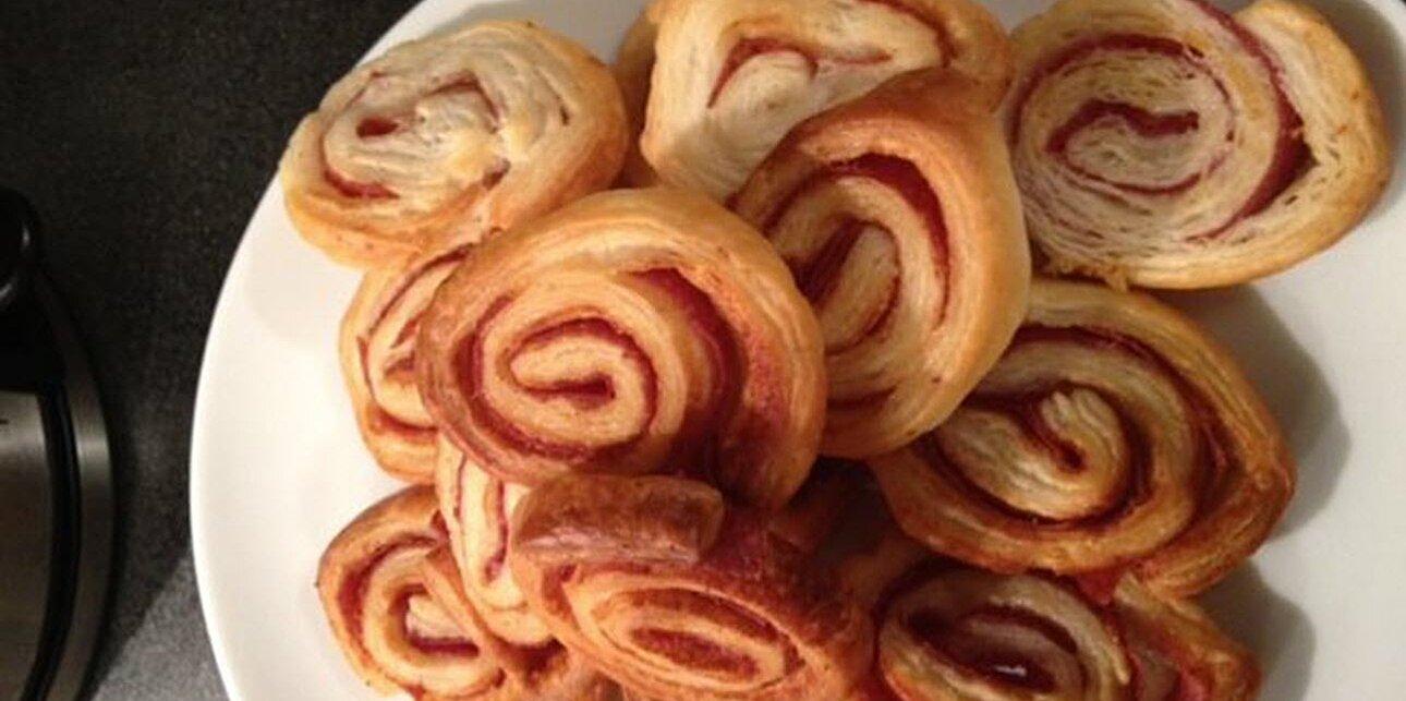 salami pinwheels recipe