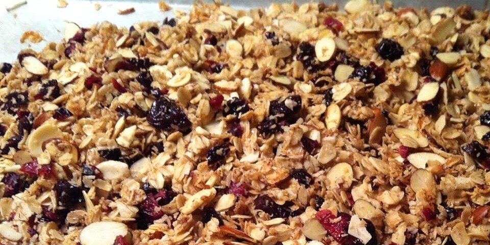 cranberry hibiscus granola recipe