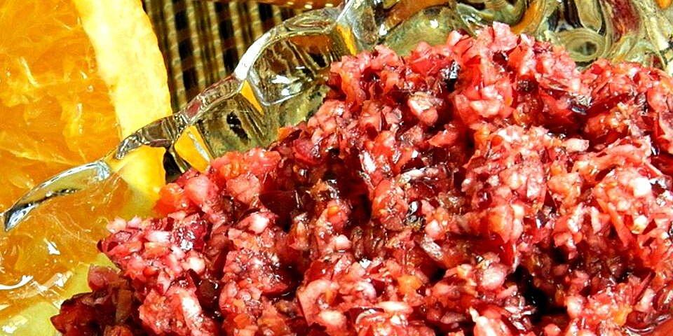 easy cranberry orange relish recipe