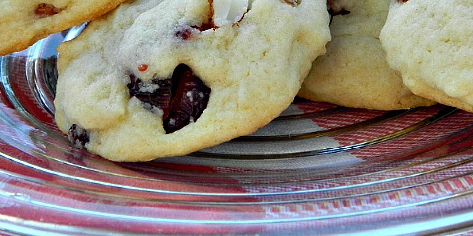 soft sugar cookies with white chocolate almonds and