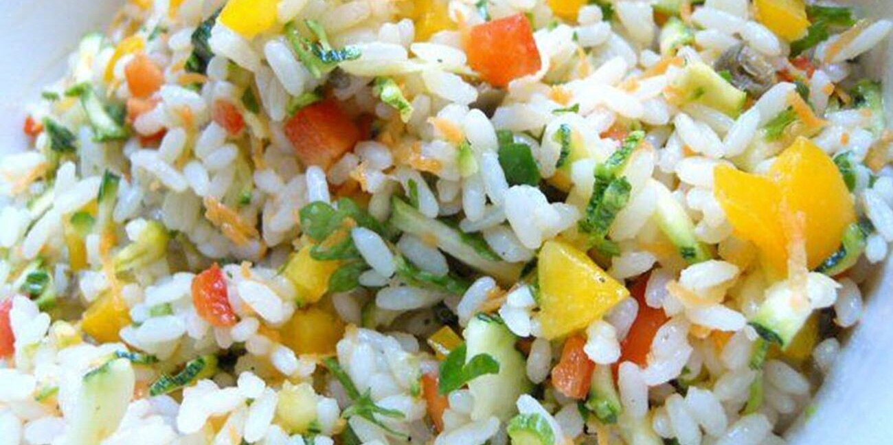 mediterranean rice salad with vegetables recipe