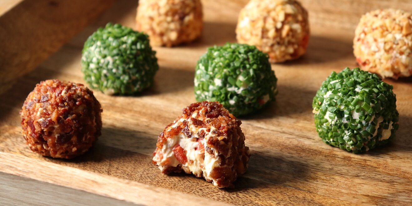 chef johns fourth of july cheese balls are red white and blue