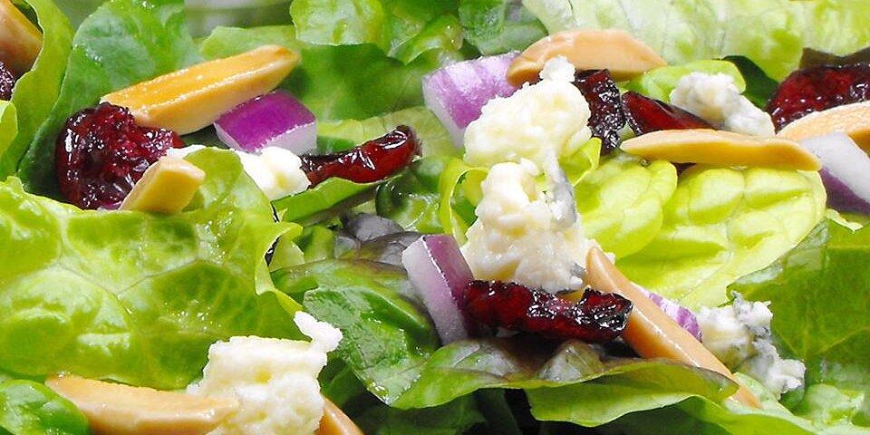green salad with cranberry vinaigrette recipe