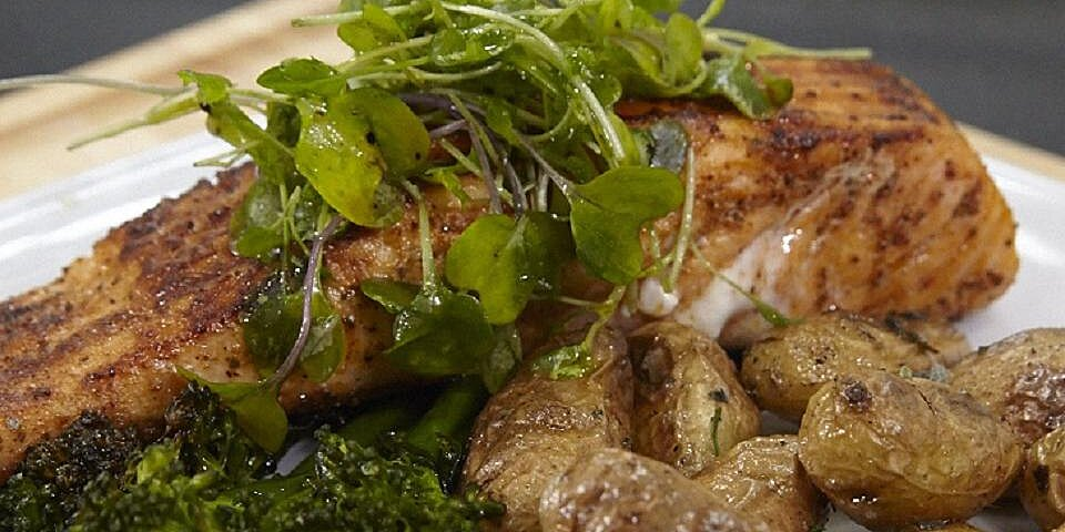 jacobs grilled cajun salmon with roasted fingerling potatoes