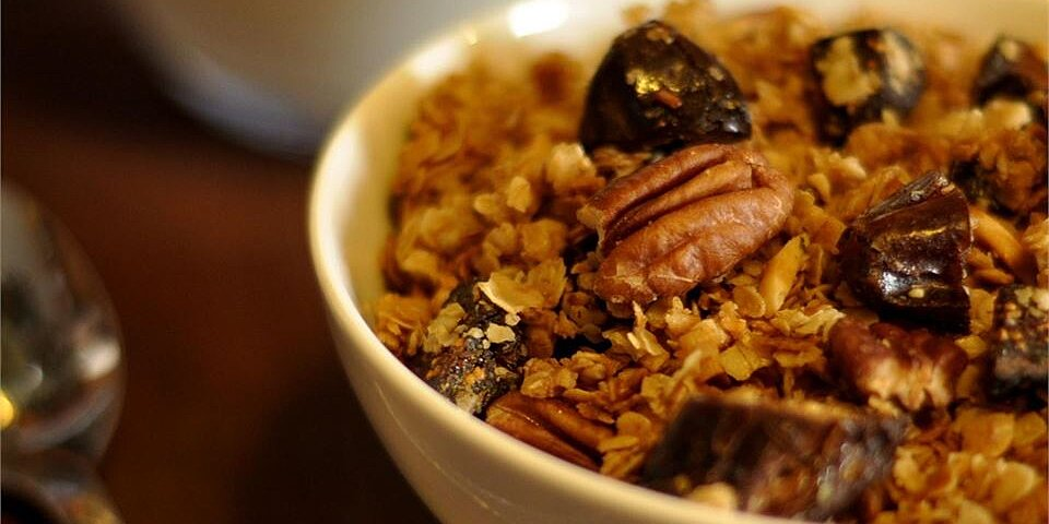 back to mals maple date pecan granola in the slow cooker recipe