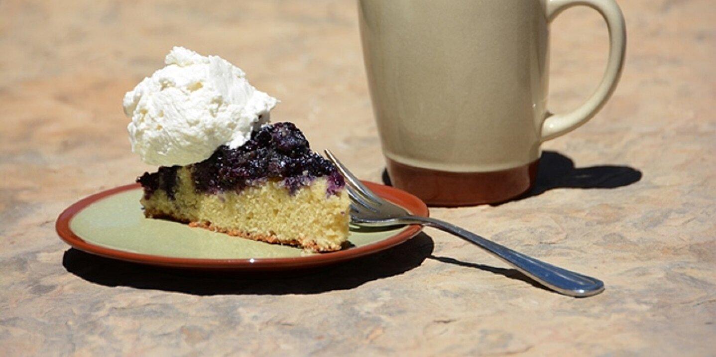 blueberry cornmeal upside down cake recipe