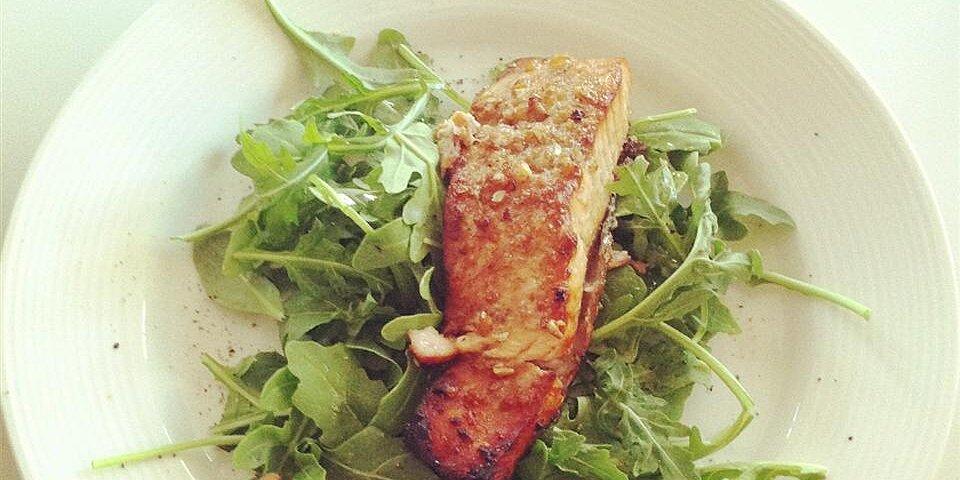 spicy sweet glazed salmon recipe