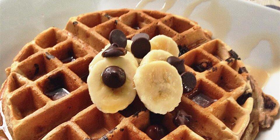 banana nut chocolate chip waffles recipe