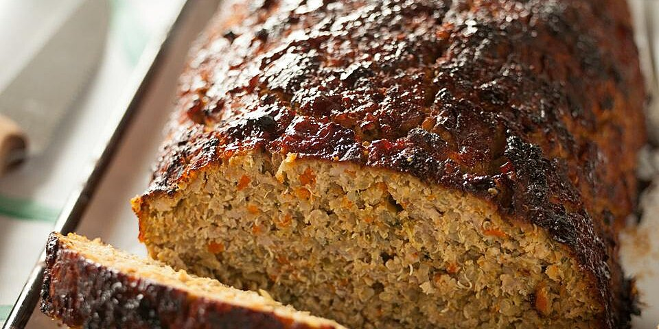 veggie packed meatloaf with quinoa recipe