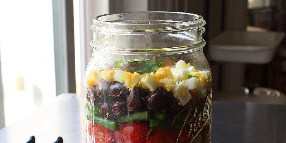 layered norcal nicoise salad