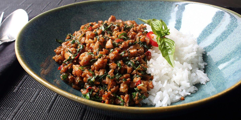 spicy thai basil chicken pad krapow gai recipe