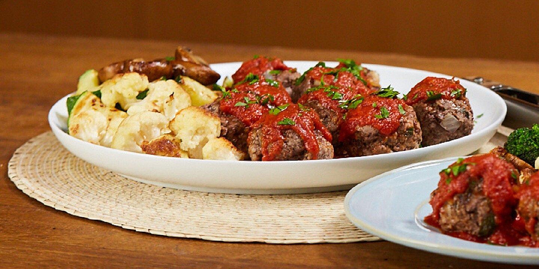 mini meatloaves and roasted veggies recipe
