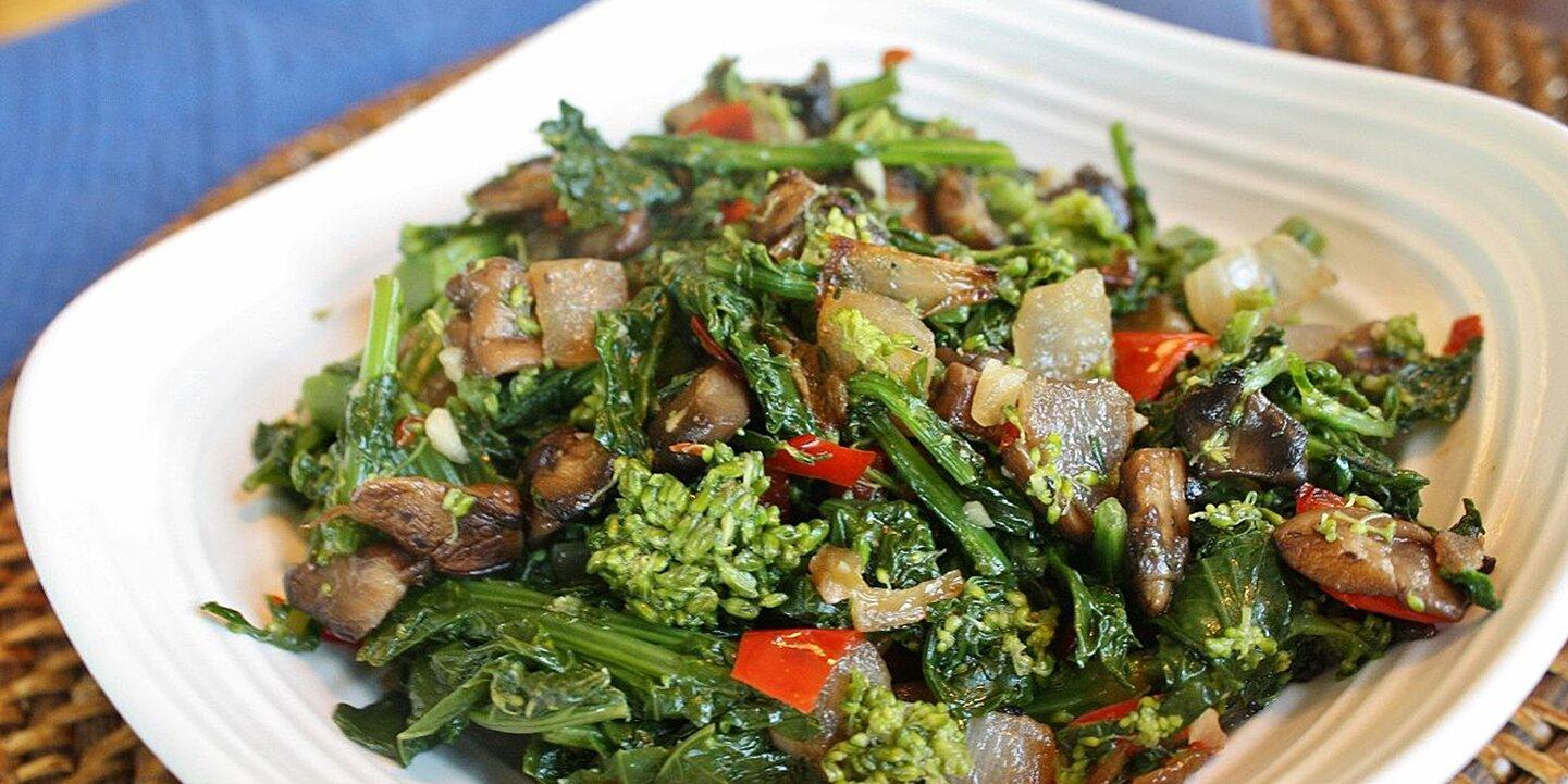 broccoli rabe with portobello mushroom recipe