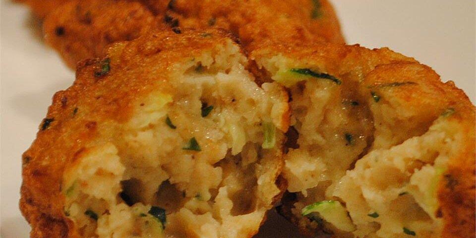 zucchini and razor clam fritters recipe