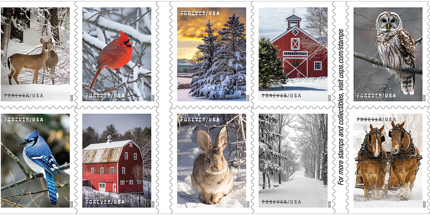 Us Mail 2021 Christmas Stamp Styles Forever Stamps A8pkwegis3nc2m