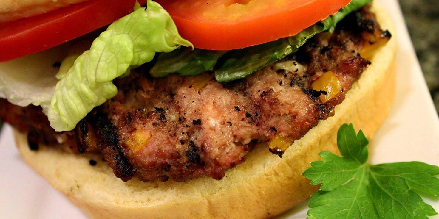 bbq feta and hot banana pepper turkey burgers recipe