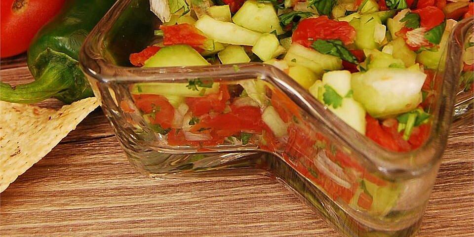 fresh and light cucumber salsa recipe