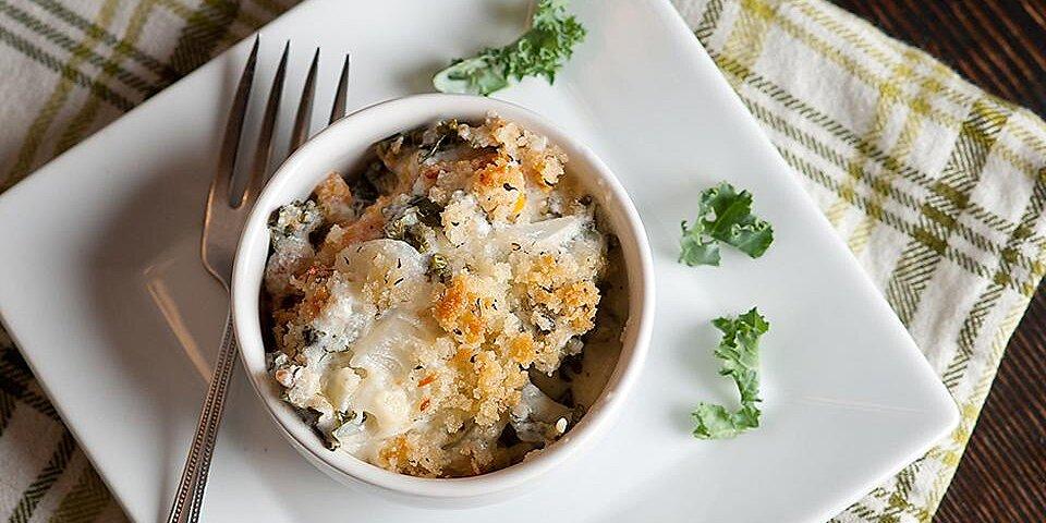 gluten free kale and butternut squash gratin recipe