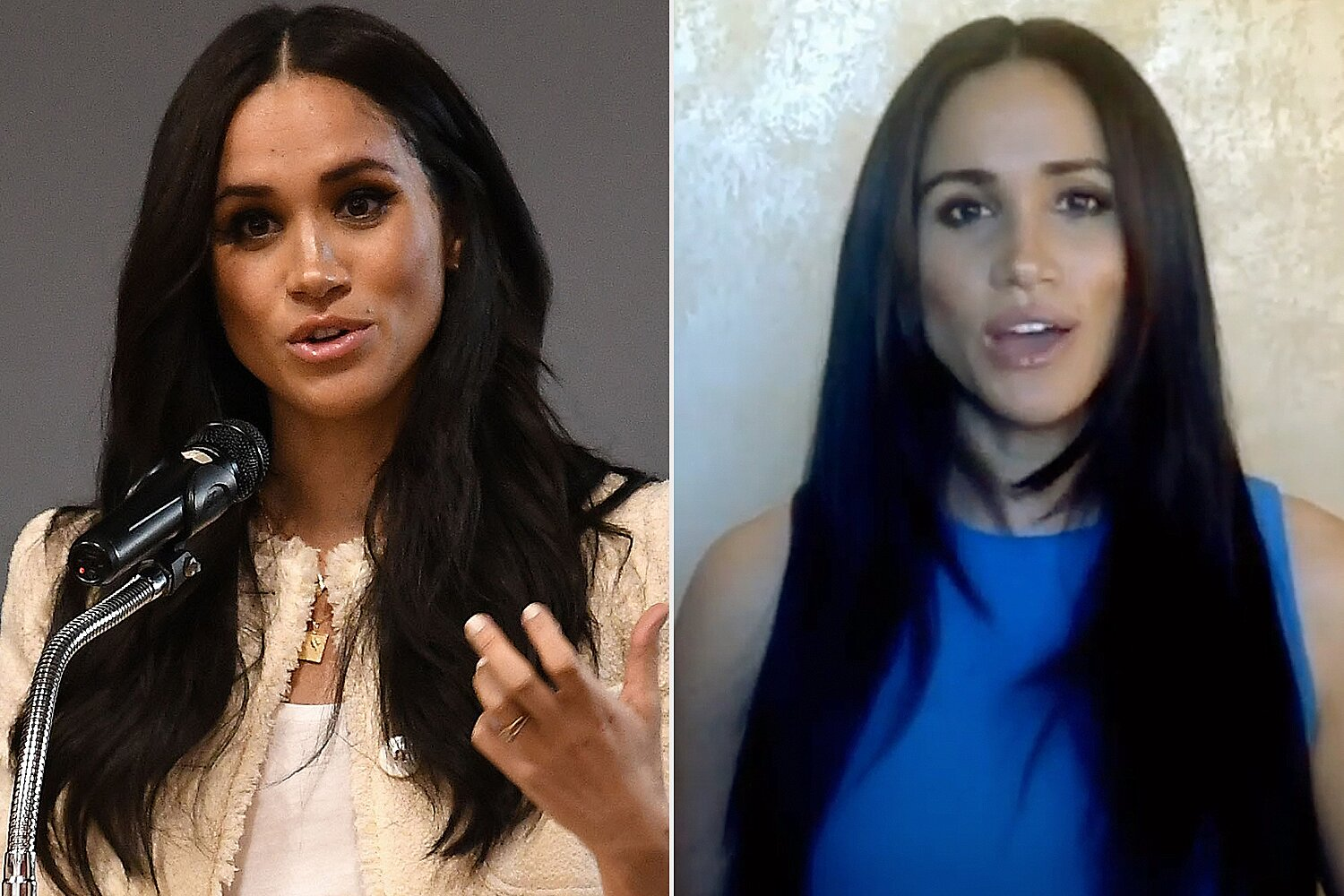 meghan markle and kate middleton debut new haircuts people com meghan markle and kate middleton debut