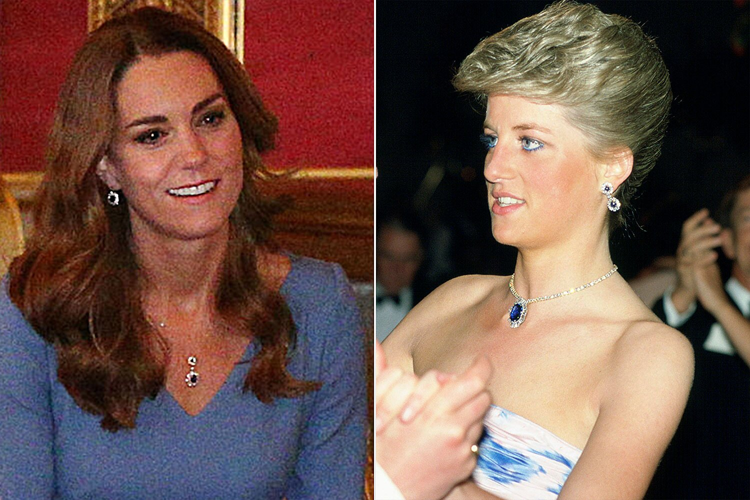 meghan markle and kate middleton wearing princess diana s jewelry people com meghan markle and kate middleton