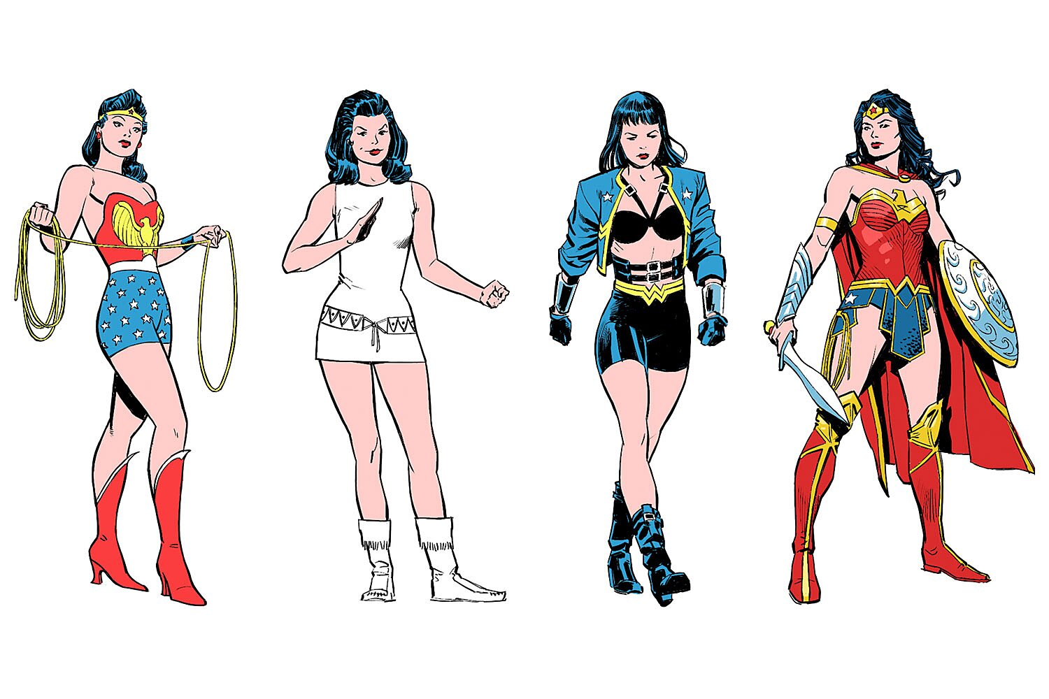 See How Wonder Woman S Costumes Changed Through The Years Ew Com