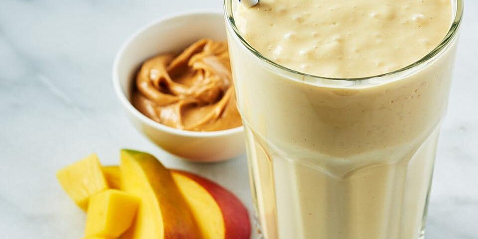 mango mayhem peanut butter smoothie
