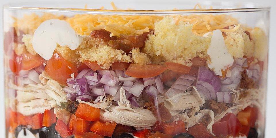 southwest chicken and corn bread salad recipe