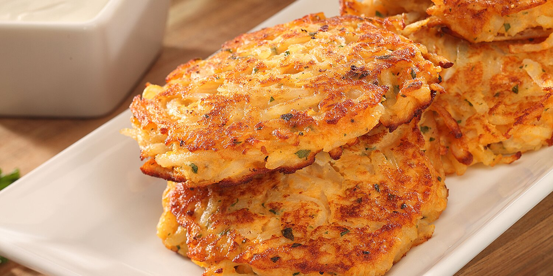 crunchy sweet potato pancakes