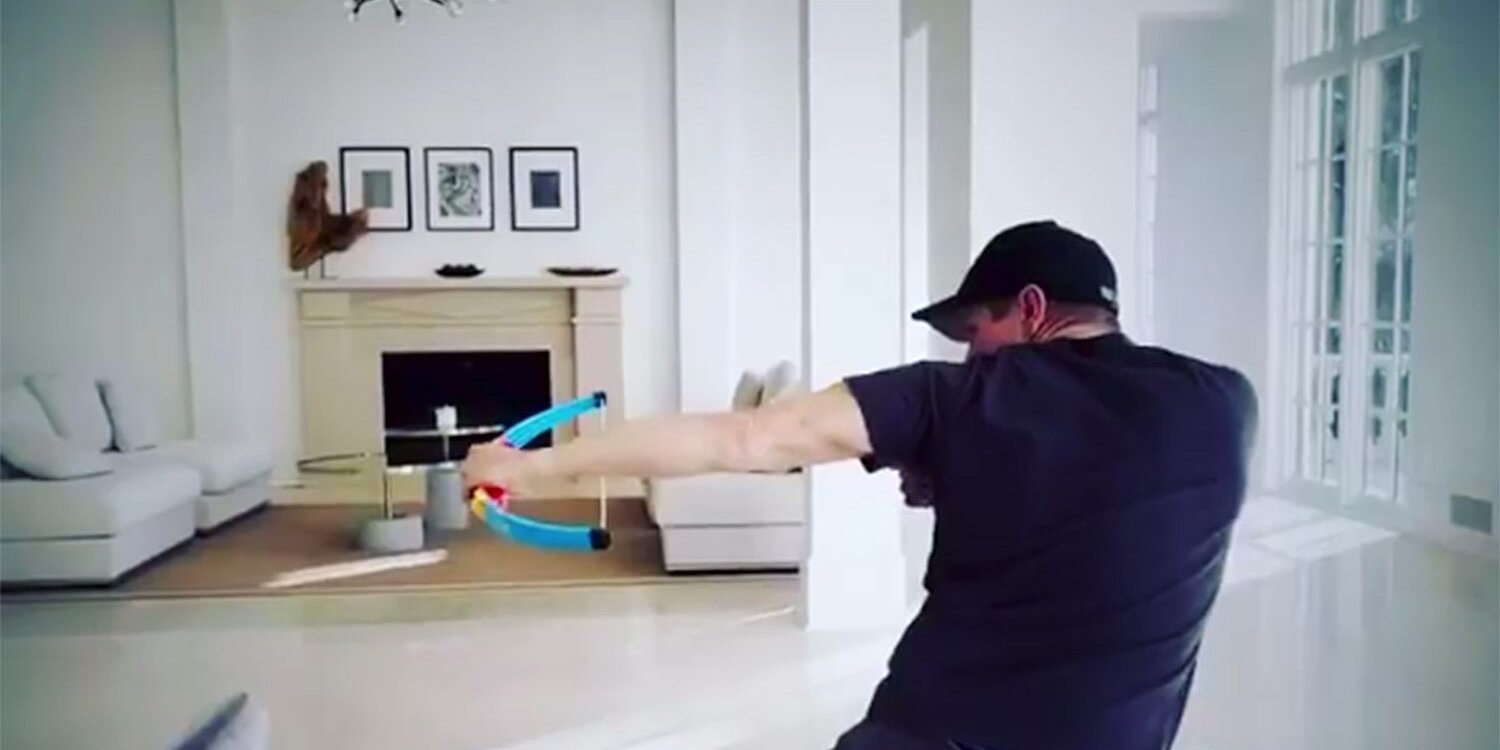 Jeremy Renner Trains for Hawkeye with Toy Bow and Arrow at Home 'Like an 8-Year-Old'