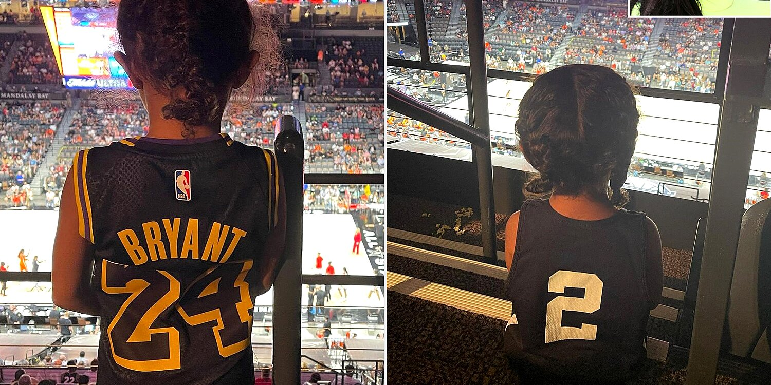 Vanessa Bryant's Daughters Bianka and Capri Wear Dad and Sister's Jerseys at WNBA All-Star Game.jpg