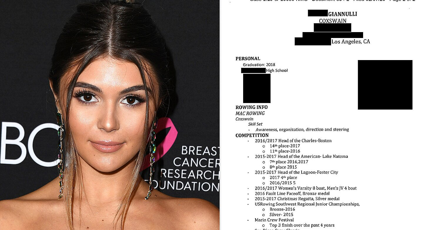 Fake Resume Apparently About Lori Loughlin S Daughter Released People Com